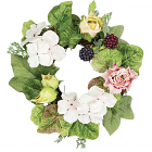 Rose Hydrangea Candle Ring 4.5 Inch