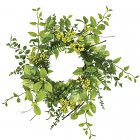 Foliage and Berry Candle Ring 6.5 Inch