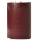 Leather Pipe and Woods 6x9 Pillar Candles
