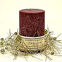 Glitter and Balls Gold Candle Rings