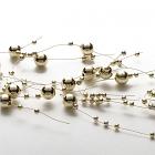 Beaded Garland Pearl Metallic Gold
