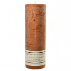 Textured 3x9 Spiced Pumpkin Pillar Candles