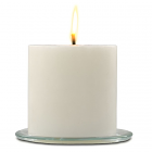 Outdoor Pillar Candles White Unscented