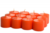 Unscented Burnt Orange Votives 15 Hour