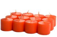 Unscented Burnt Orange Votives 10 Hour