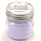 Half Pint Mason Jar Candle Lemon and Lavender