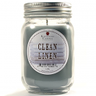 Pint Mason Jar Candle Clean Cotton