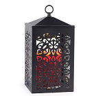Lantern Candle Warmer Scroll Black