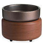 Candle Warmer and Dish Pewter Walnut