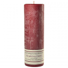 Textured 3x9 Raspberry Cream Pillar Candles