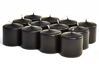 Unscented Black Votives 15 Hour