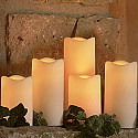 5pc. Outdoor LED Pillar Candle Set