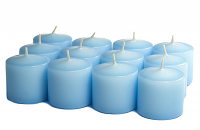 Unscented Light Blue Votives 15 Hour