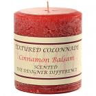 Textured 3x3 Cinnamon Balsam Pillar Candles