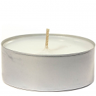 White Unscented Mega Tea Light