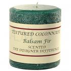 Textured 3x3 Balsam Fir Pillar Candles