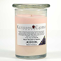 12 oz Black Raspberry Vanilla Soy Jar Candles