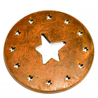 Jar Caps Rust Star