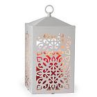 Lantern Candle Warmer Scroll White