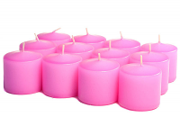 Unscented Hot Pink Votives 10 Hour