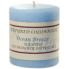 Textured 3x3 Ocean Breeze Pillar Candles