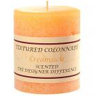 Textured 3x3 Creamsicle Pillar Candles