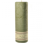 Textured 3x9 Sage and Citrus Pillar Candles