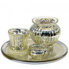 Votive Candle Holder Gold Set 4 Piece Set