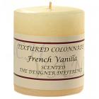 Textured 3x3 French Vanilla Pillar Candles