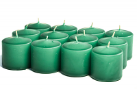 Unscented Forest Green Votives 10 Hour