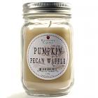 Pint Mason Jar Candle Pumpkin Pecan Waffle