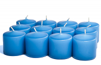 Unscented Colonial Blue Votives 15 Hour