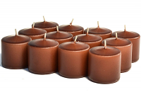 Unscented Brown Votives 10 Hour