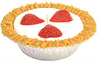 Strawberry Pie Candles 5 Inch