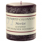 Textured 3x3 Merlot Pillar Candles