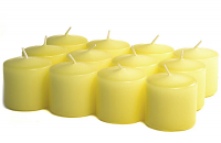 Unscented Pale Yellow Votives 10 Hour