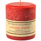Textured 4x4 Cinnamon Balsam Pillar Candles