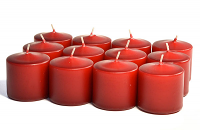 Unscented Burgundy Votives 15 Hour