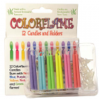 Colored Flame Birthday Candles