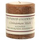 Textured 3x3 Cinnamon Stick Pillar Candles