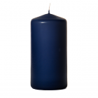 3x6 Navy Pillar Candles Unscented