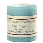 Textured 3x3 Blue Lagoon Pillar Candles