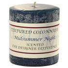 Textured 3x3 Midsummer Night Pillar Candles