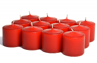 Unscented Red Votives 10 Hour