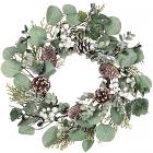Berry Foliage 6.5 Inch Candle Rings