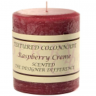Textured 3x3 Raspberry Cream Pillar Candles