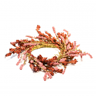 Floral Rustic Pink Candle Ring 6.5 Inch
