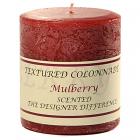 Textured 3x3 Mulberry Pillar Candles
