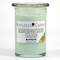 12 oz Cool Citrus Basil Soy Jar Candles